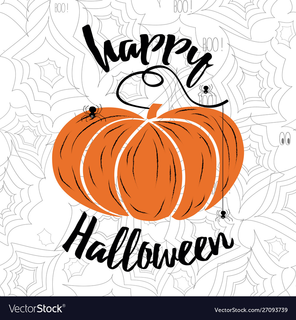 Happy halloween lettering holiday