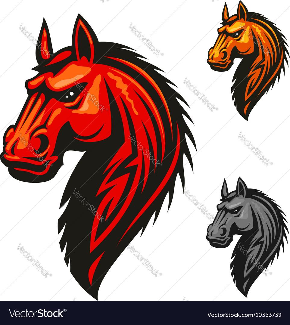 Horse stallion head and mane icon