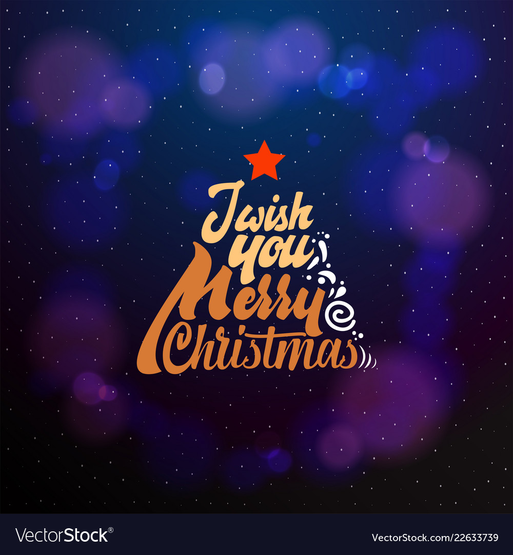 i wish a merry christmas and happy new year 2019 vector image