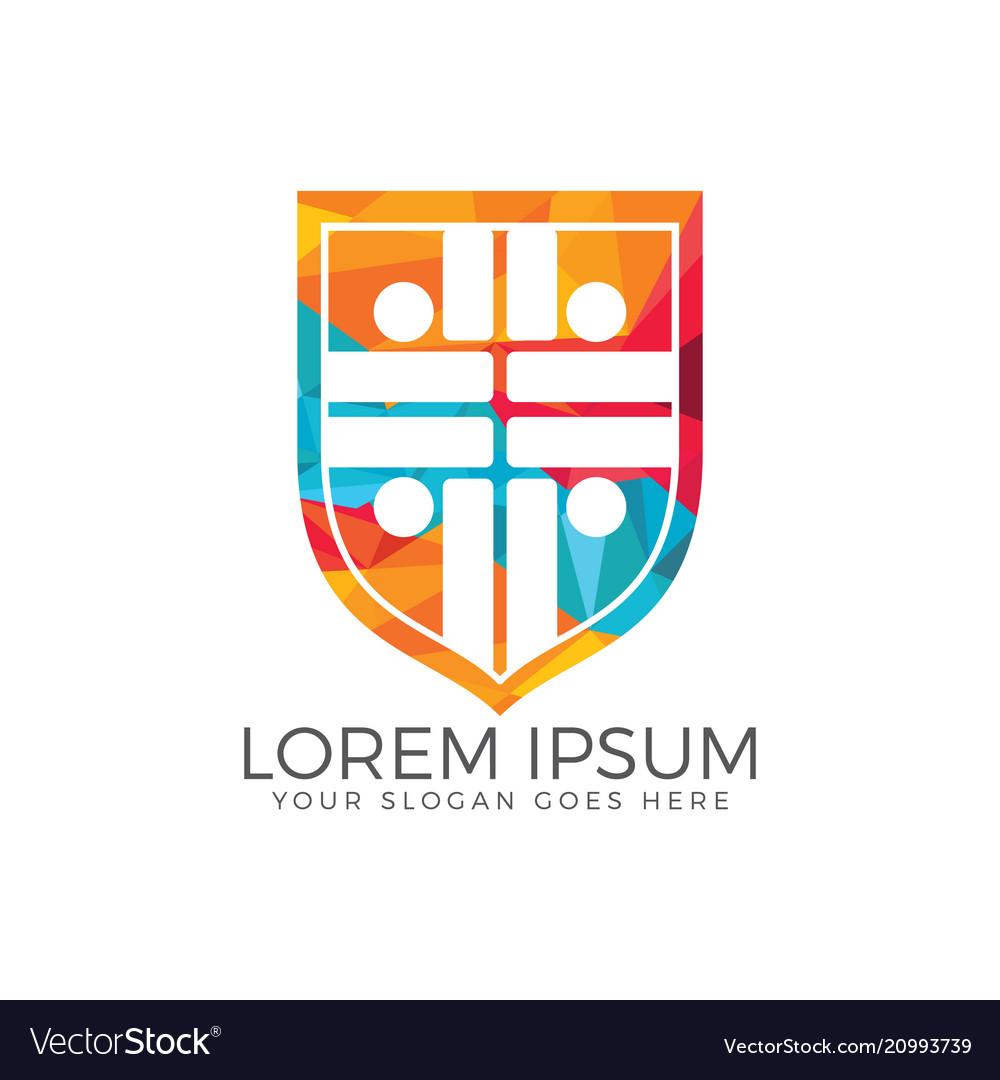 People church logo design template
