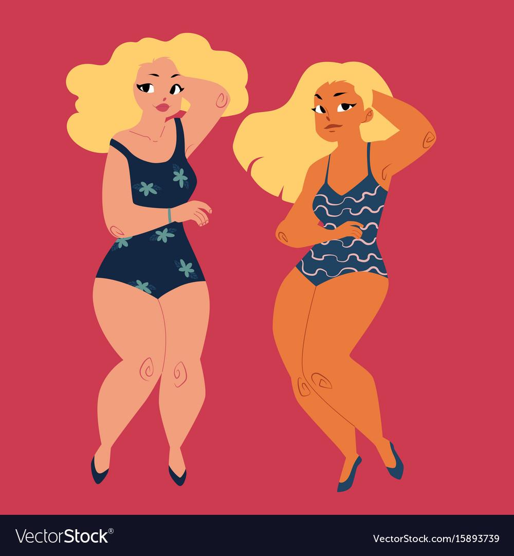Curvy plump girls