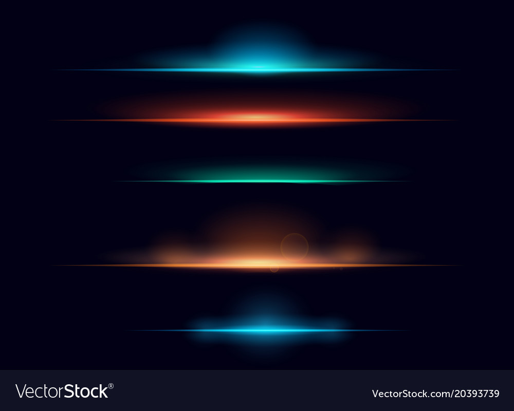 Set of colorful realistic vector image