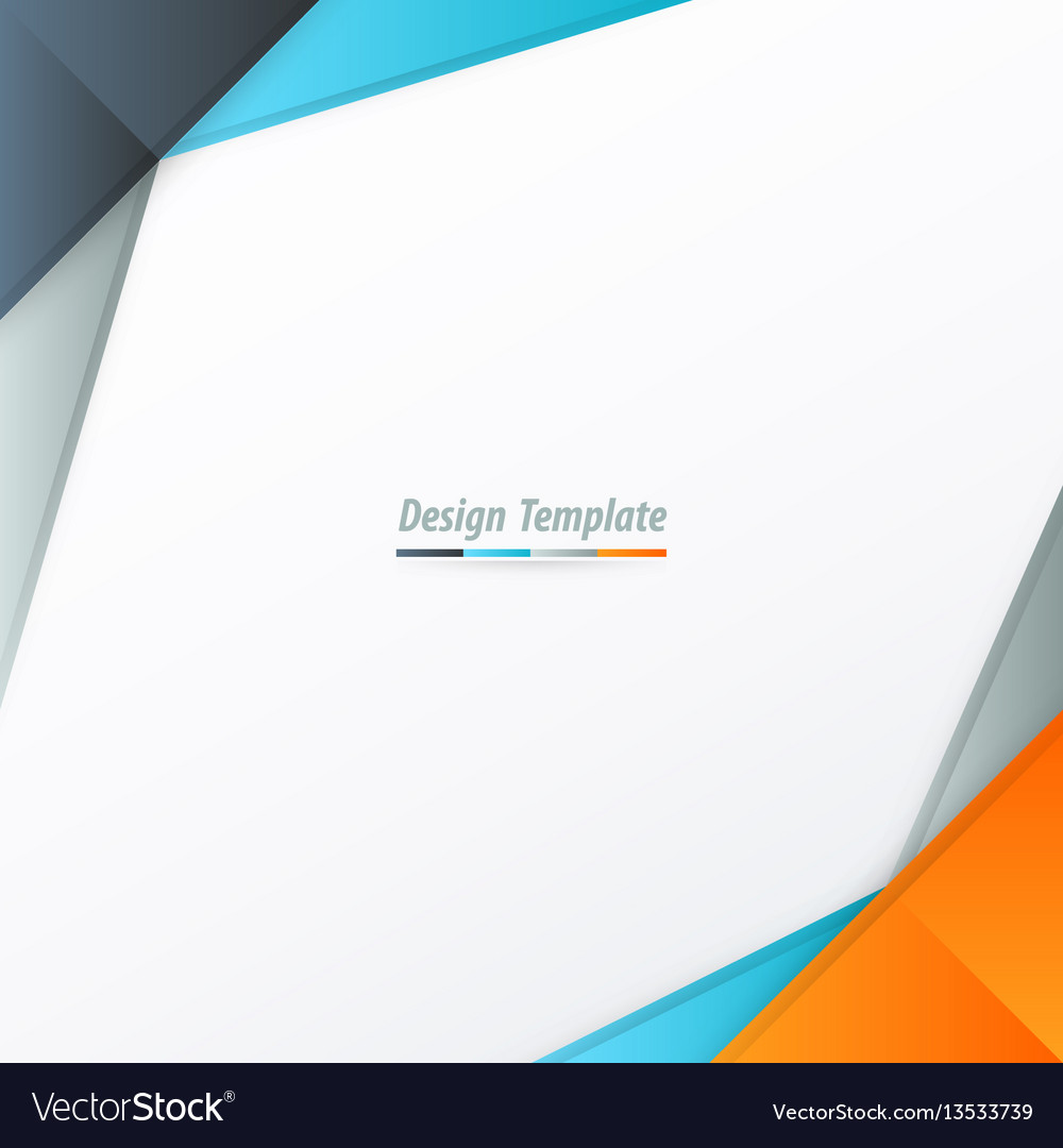 Template design orange blue gray