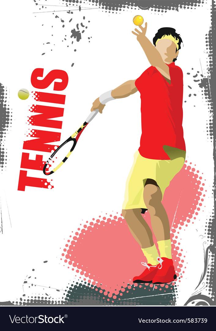 Tennis poster vector image