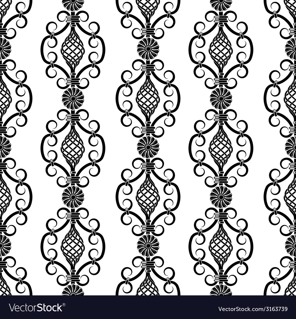 Wrought iron pattern