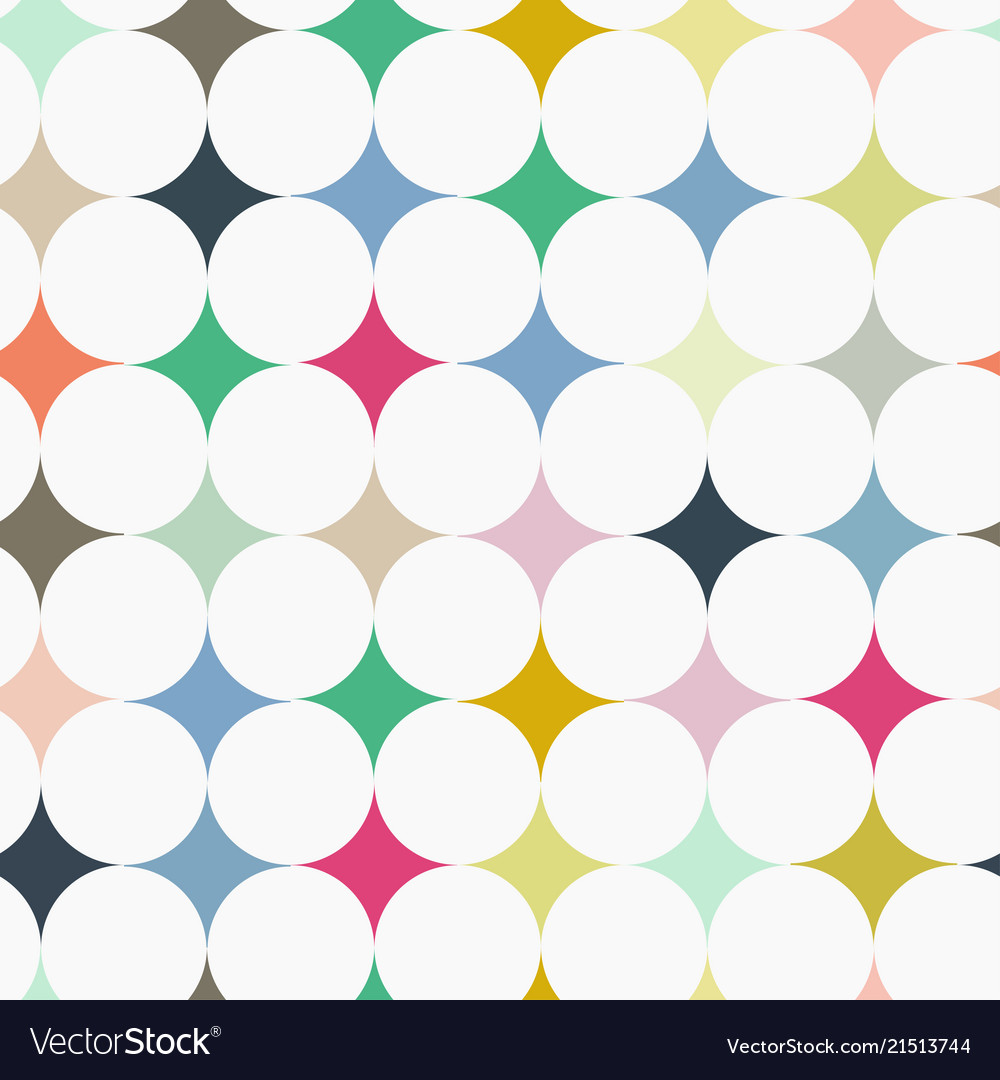 Abstract seamless retro tile pattern with