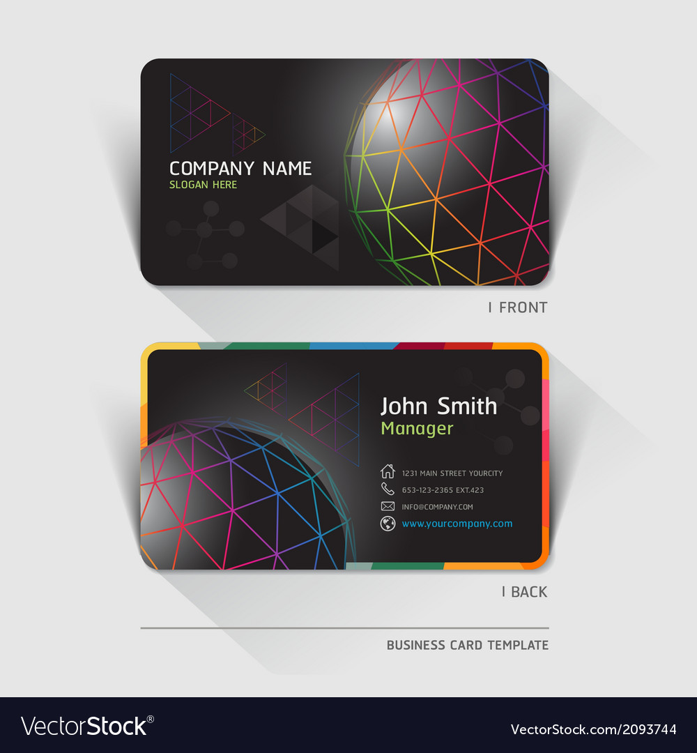 Business card technology background royalty free vector business card technology background vector image accmission Image collections