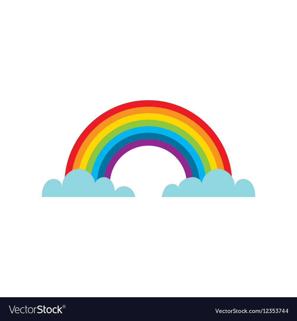 clouds and rainbow icon royalty free vector image rh vectorstock com vector rainbow gradient vector rainbow flag