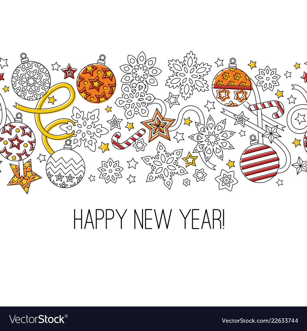 Congratulation card happy new year 2018 wreath