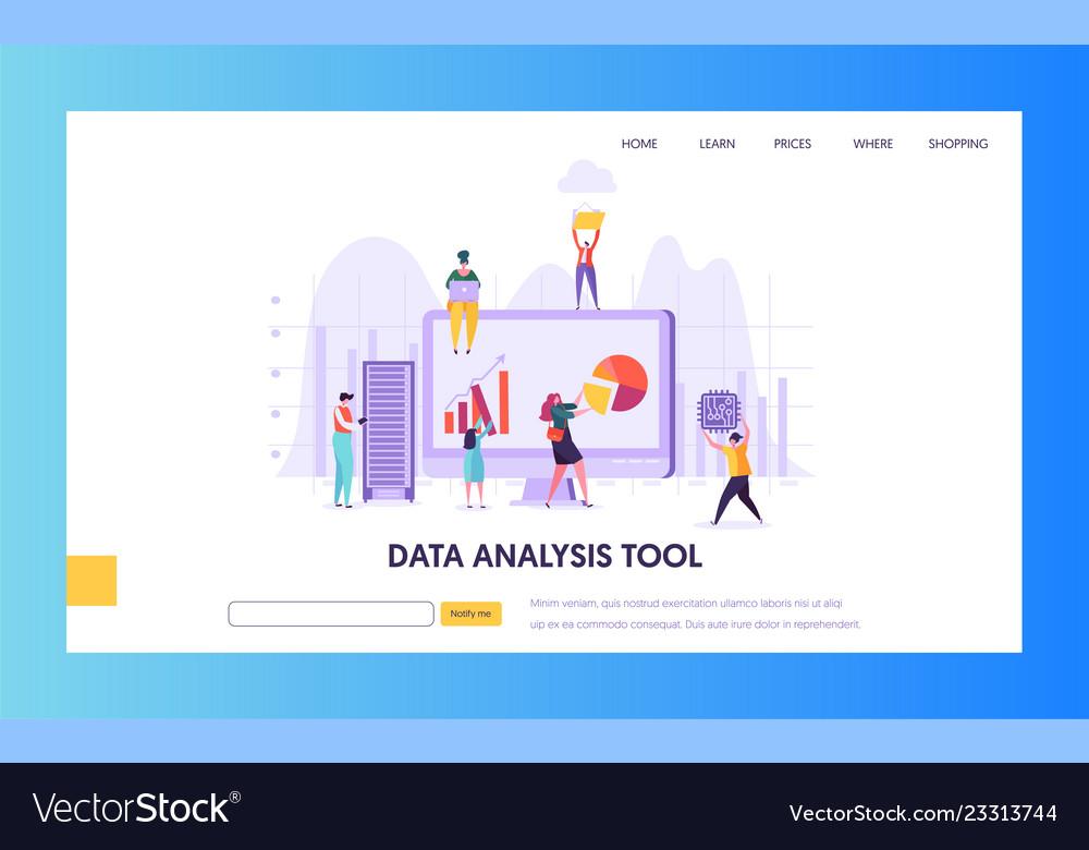 Digital marketing analysis research landing page