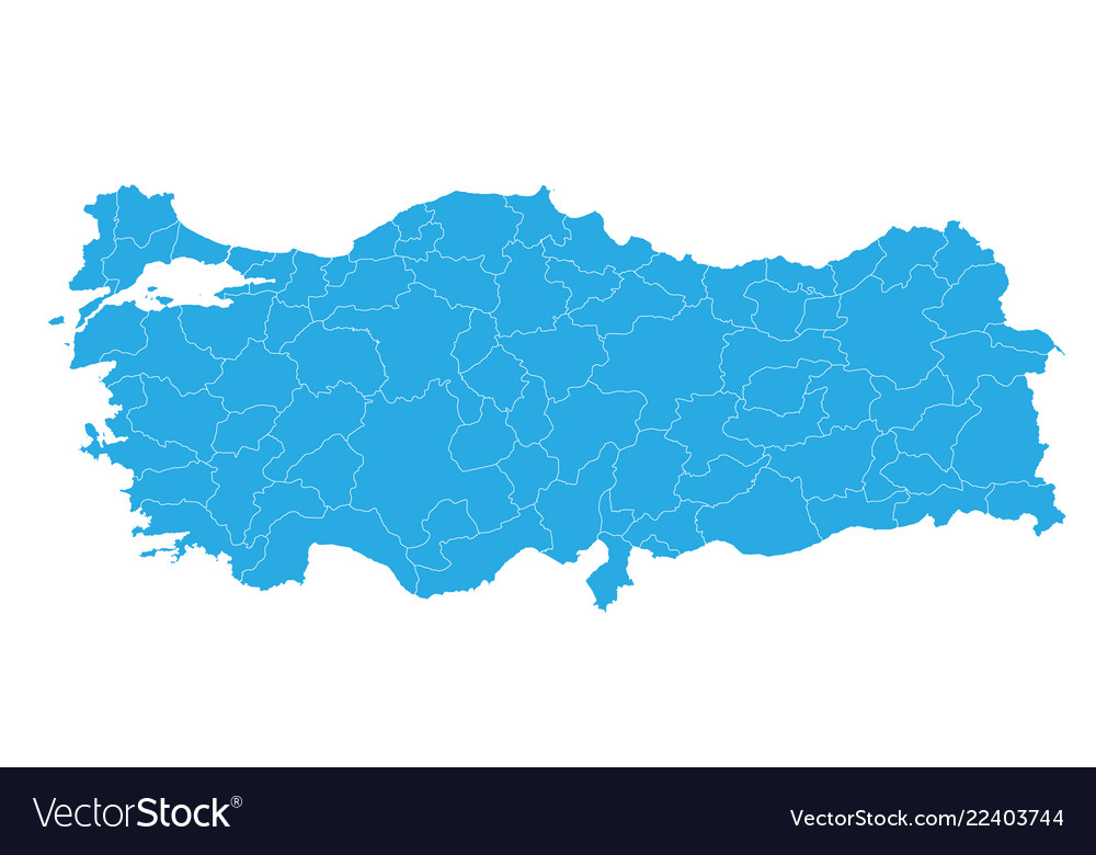 Map of turkey high detailed map - turkey Vector Image