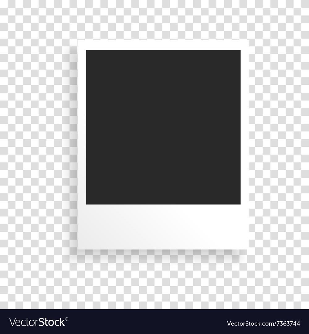 Photo frame on a transparent background vector image