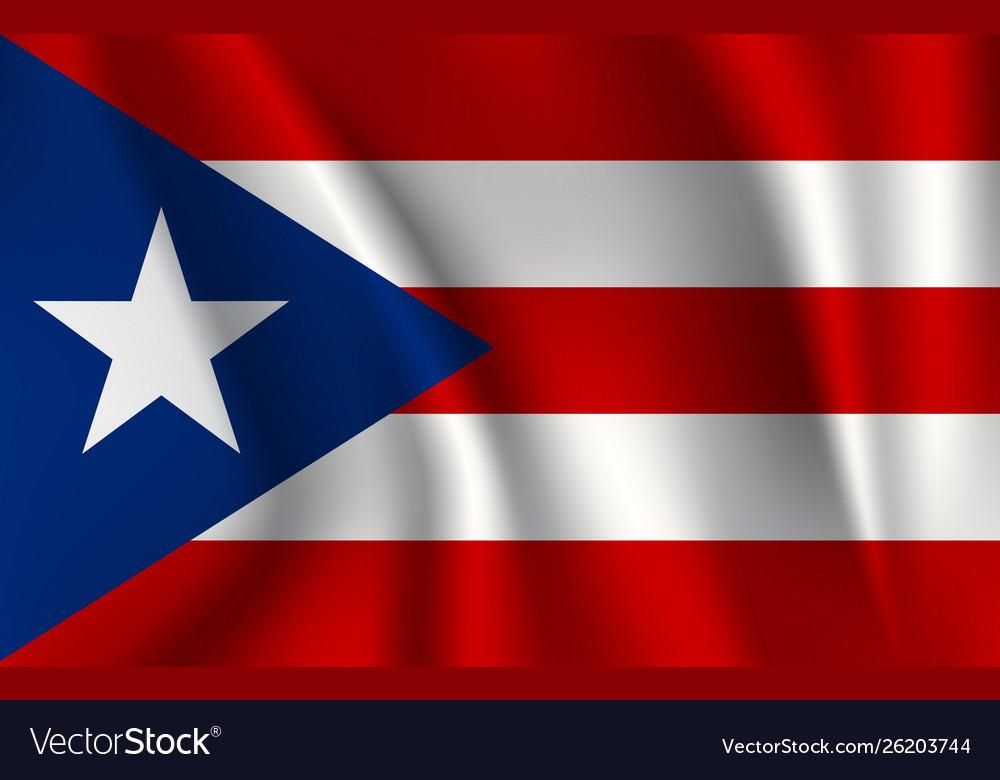 Realistic waving flag waving flag