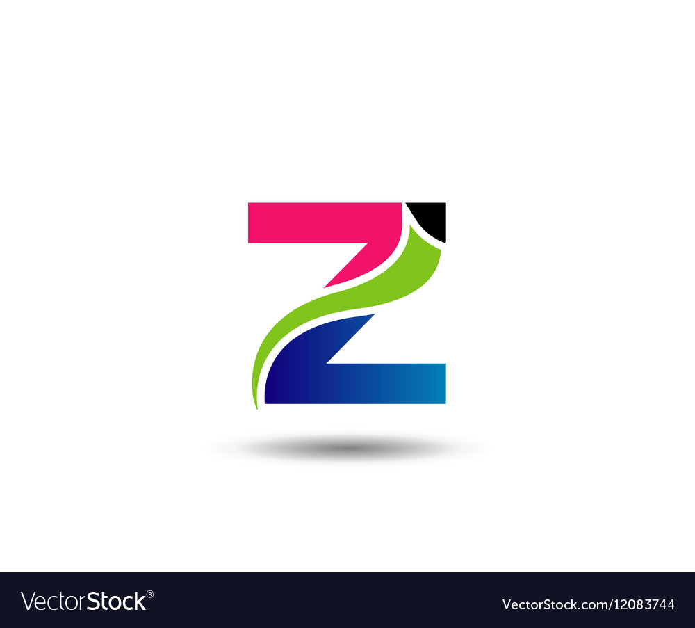 Z symbol graphic elements Z vector image