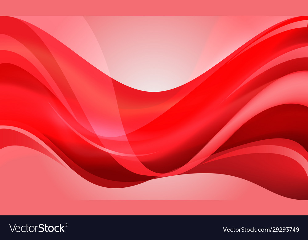 Abstract red curve wave design modern luxury