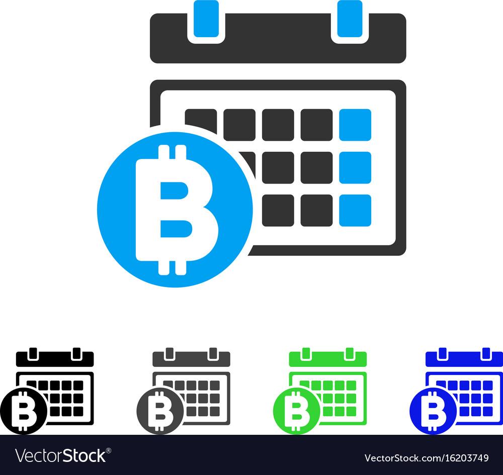 Bitcoin table flat icon vector image