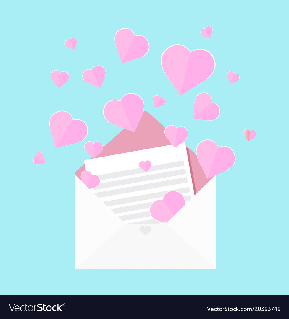 Colorful of letter of love