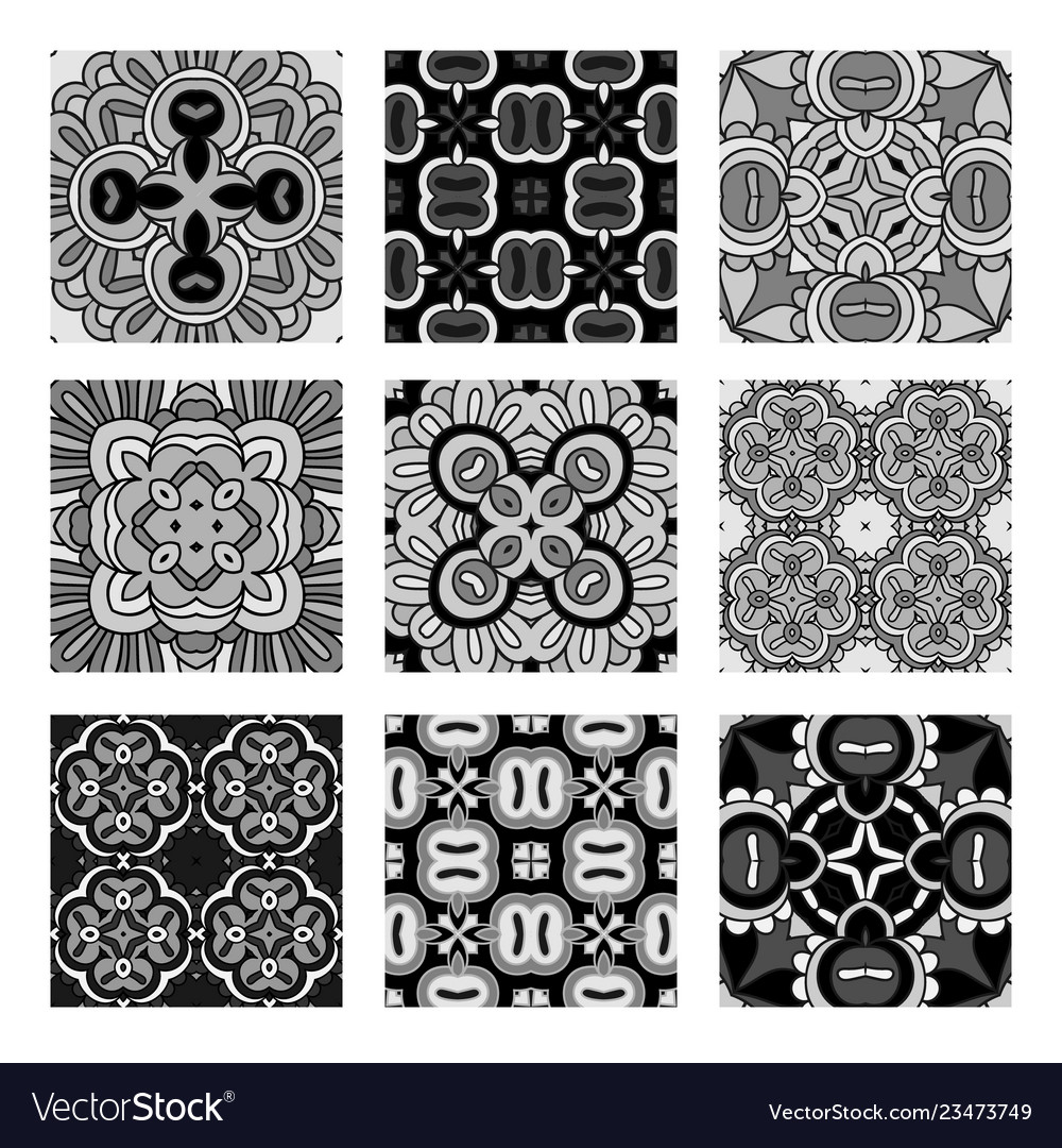 Decorative monochrome tile pattern design
