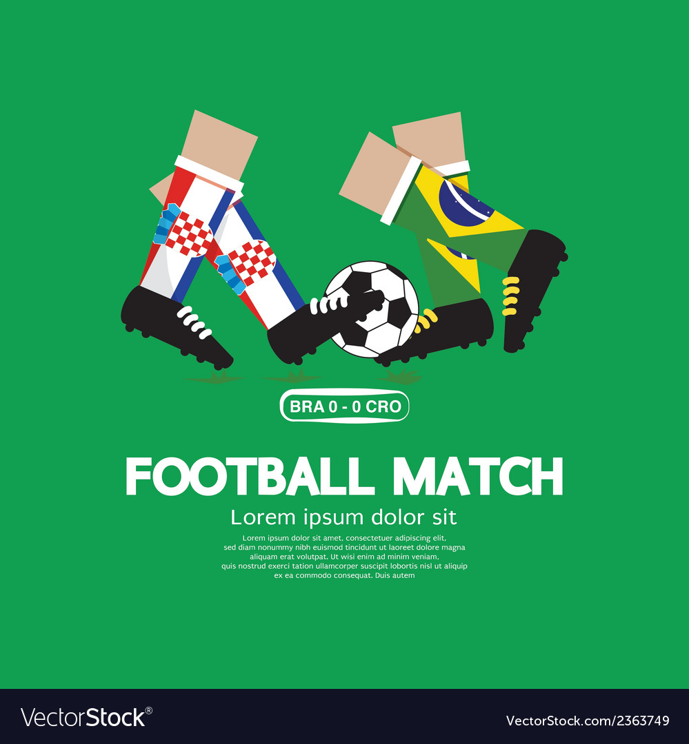 Football Match vector image