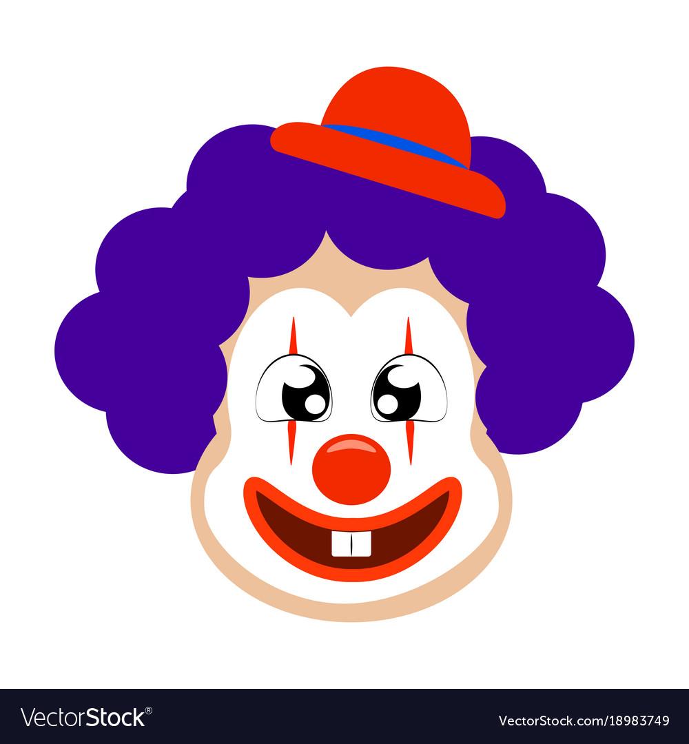 funny cute clown royalty free vector image vectorstock rh vectorstock com clown vectoriel clown vectoriel gratuit