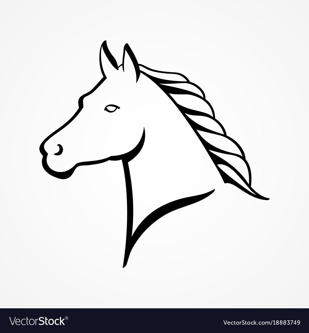 Line Art A Horse Head Royalty Free Vector Image