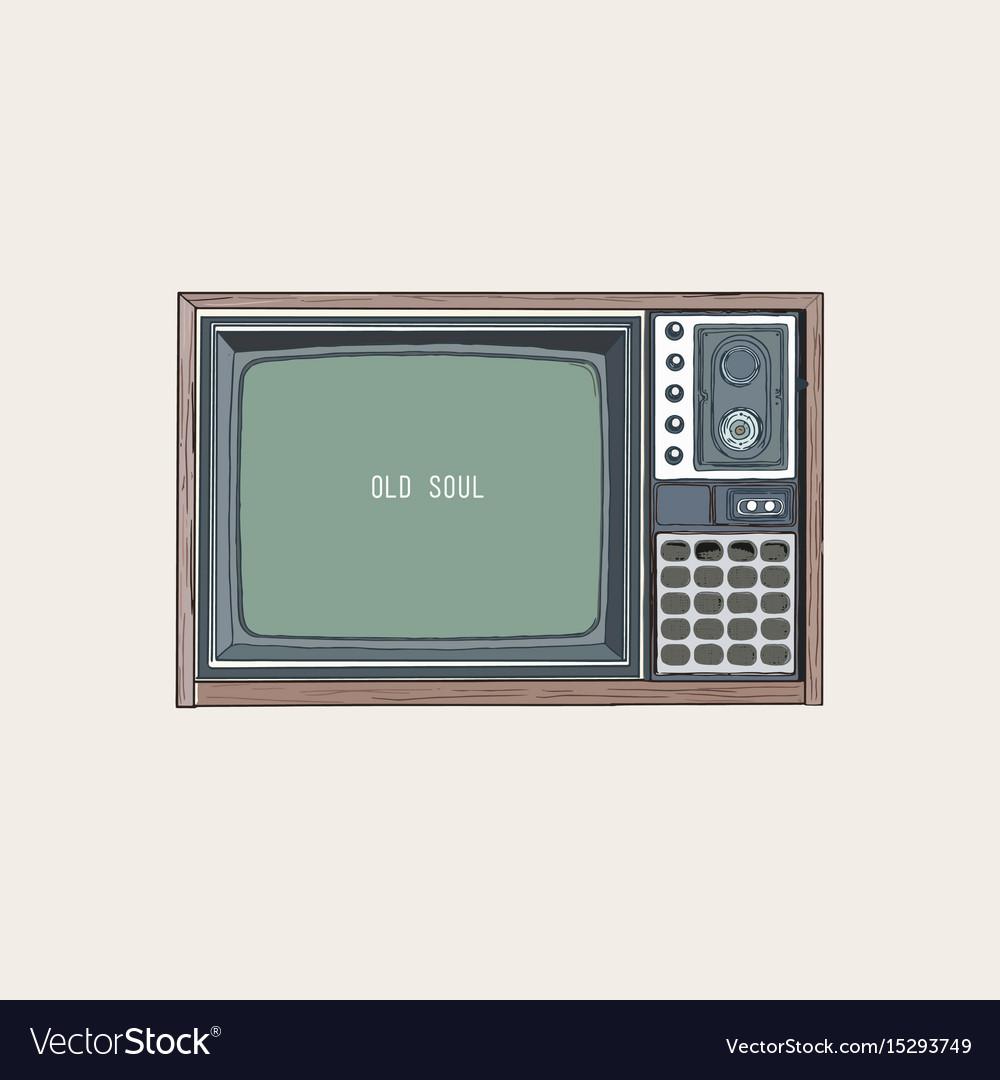 Retro tv television sketch