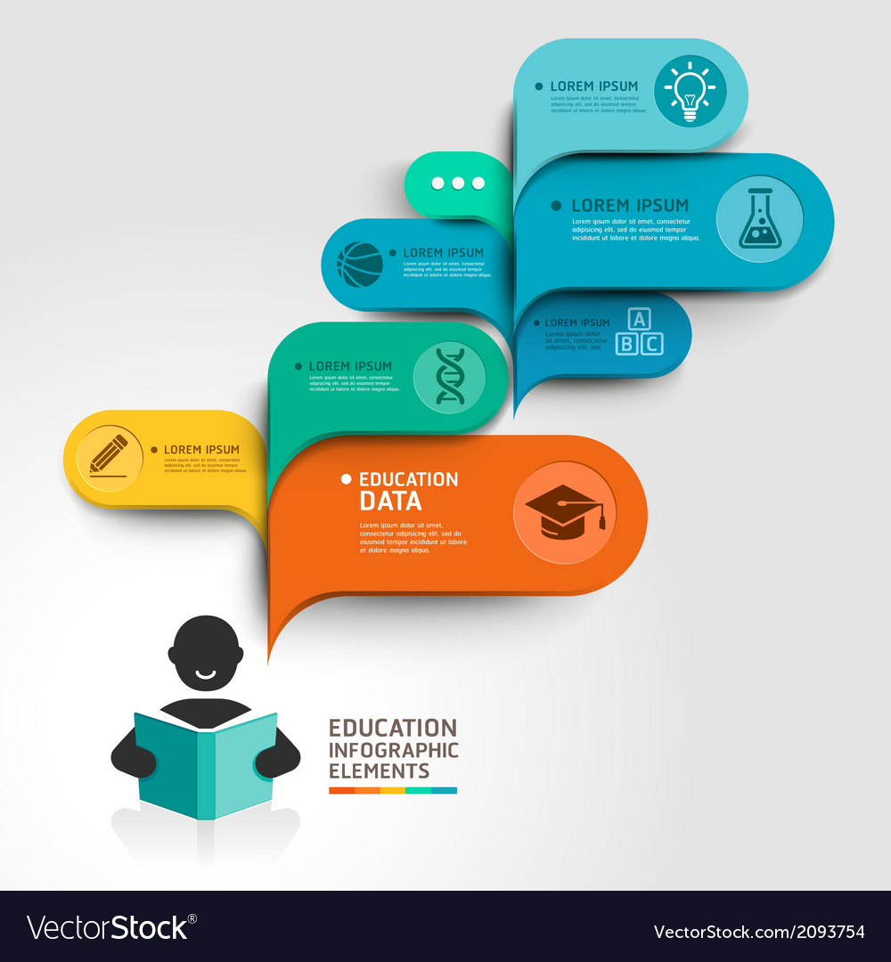 Education Infographics step option