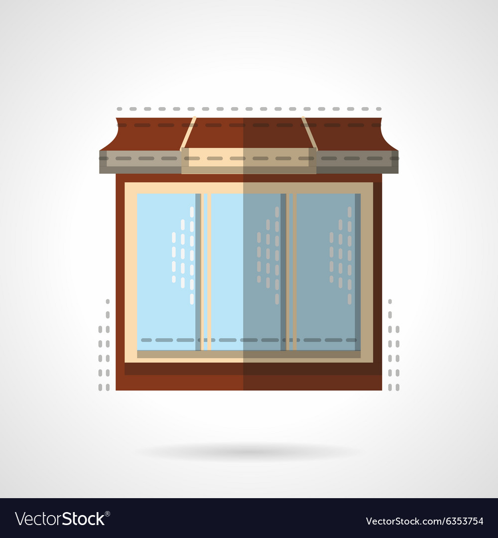 Flat color store window icon