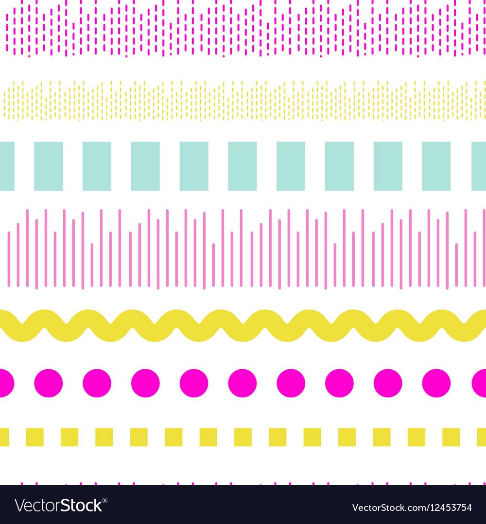 Geometric embroidery seamless pattern