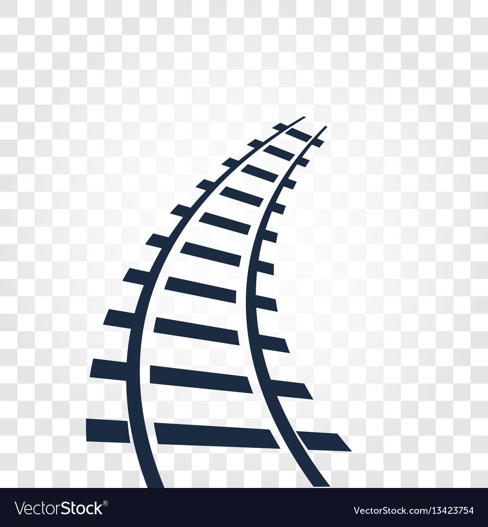 Isolated rails railway top view ladder elements