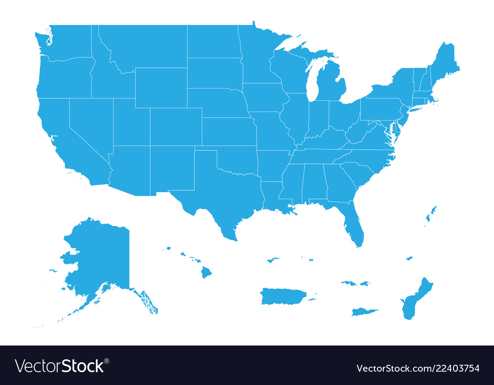 Map of united state of america territories high