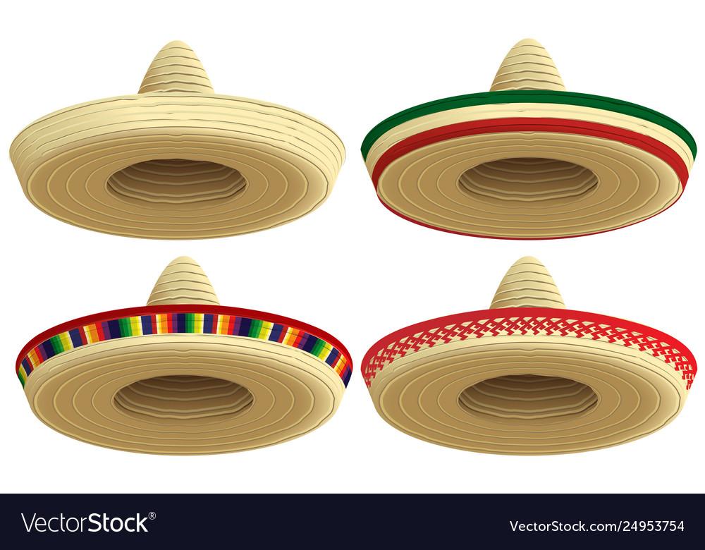 Straw Sombrero Hat