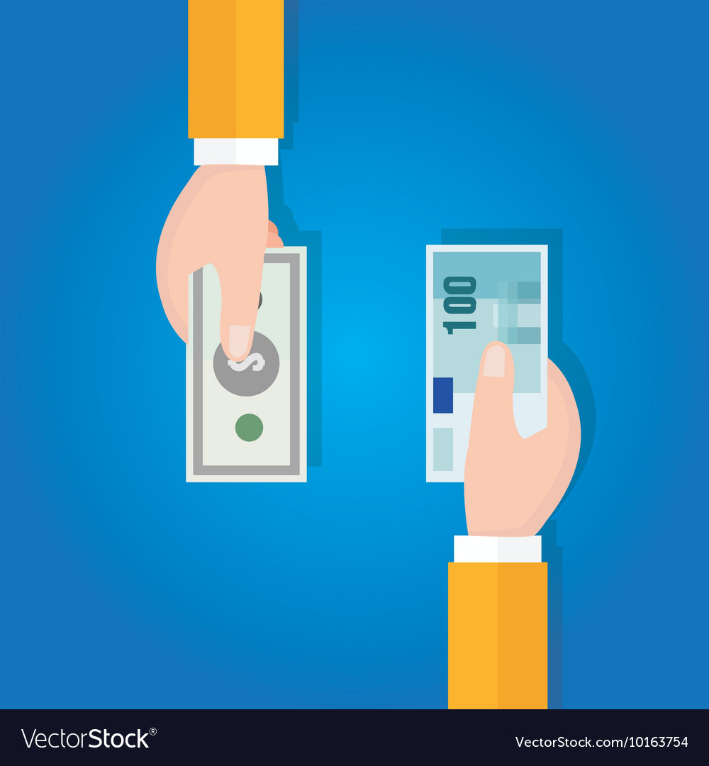 Money currency exchange financial transaction Vector Image