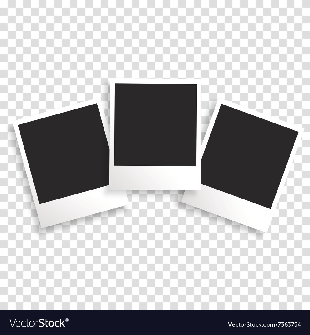 photo frame on a transparent background royalty free vector