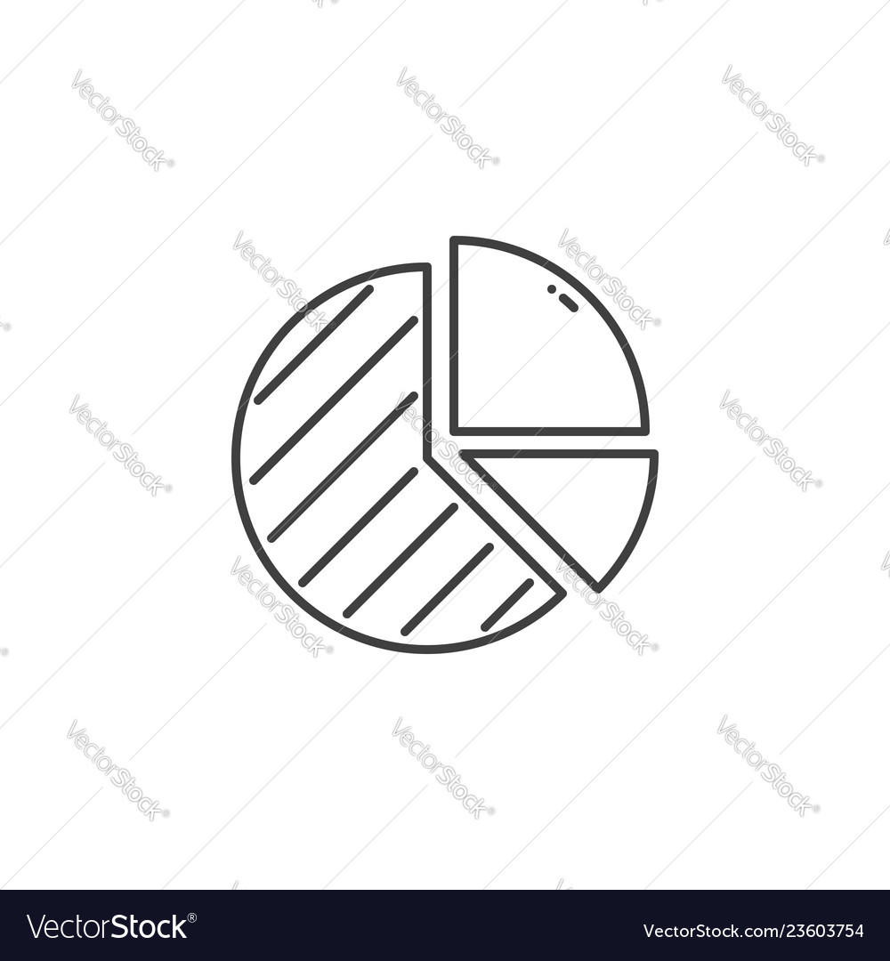 Pie chart related line icon