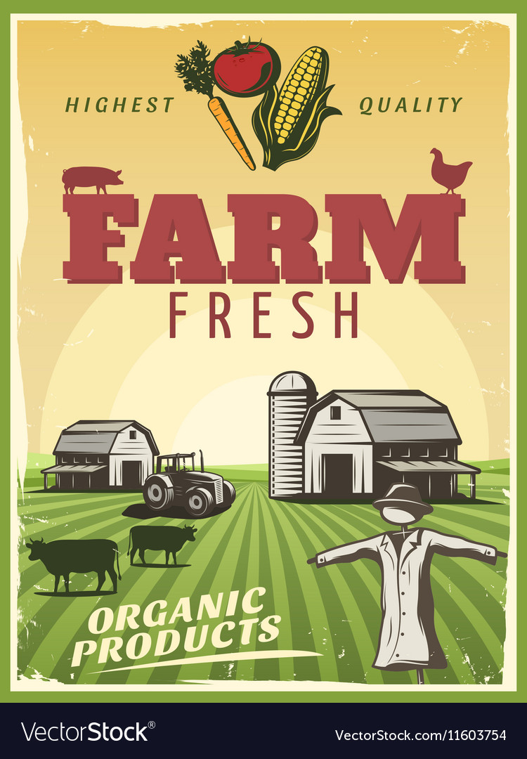 Ranch farm poster