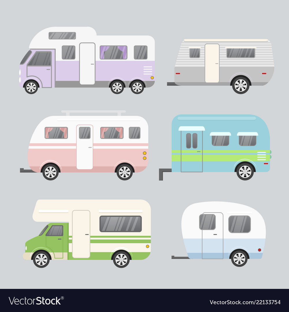 Set of camping trailers
