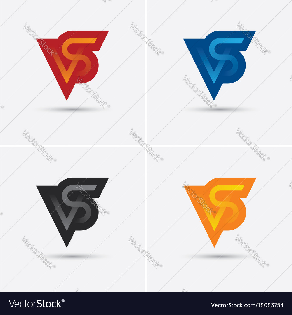 Set vs letters logo in four different colors