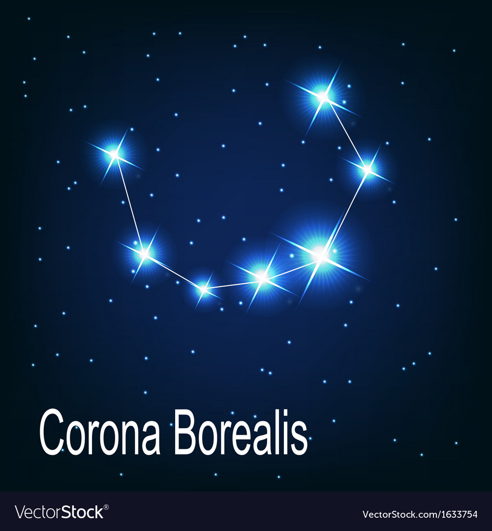 The Constellation Corona Borealis Star In The Vector Image