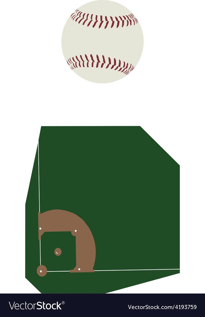 Baseball ball and fiels