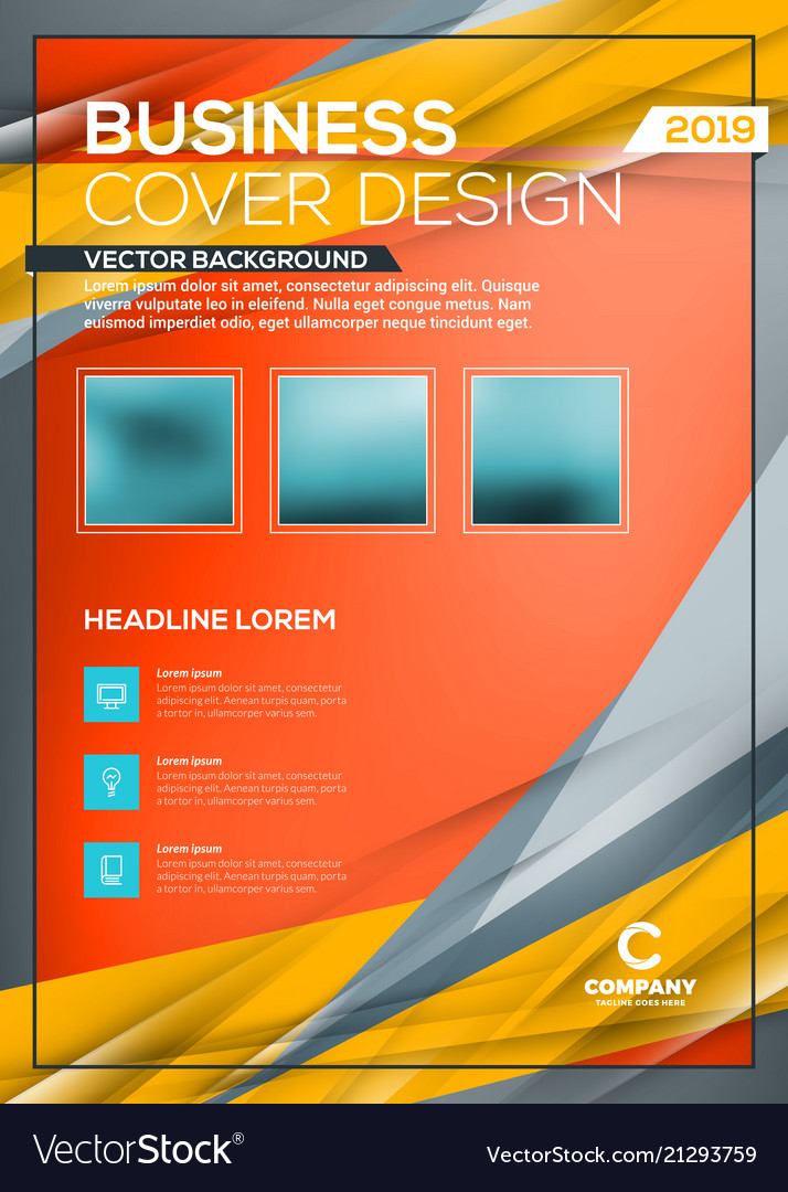 Cover design business layout template annual