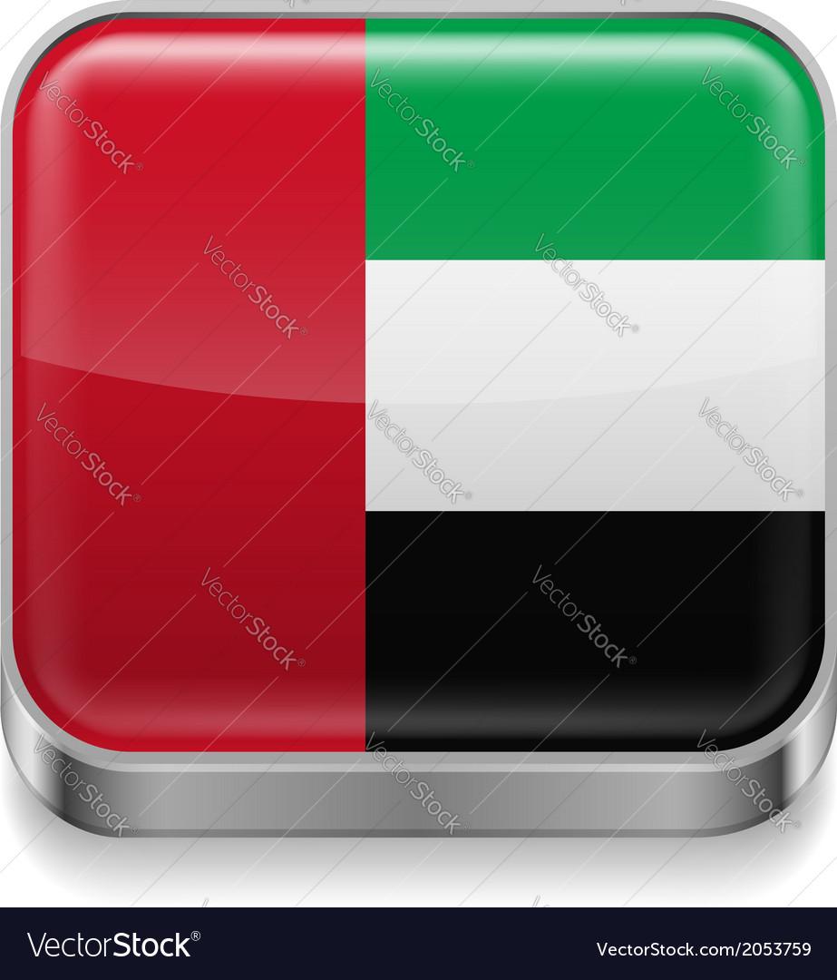 Metal icon of United Arab Emirates