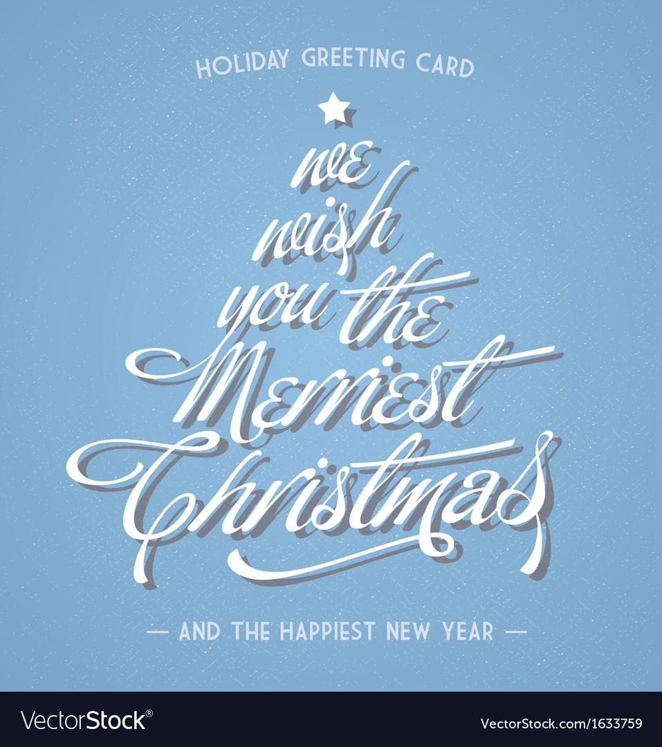 Retro vintage christmas greeting card