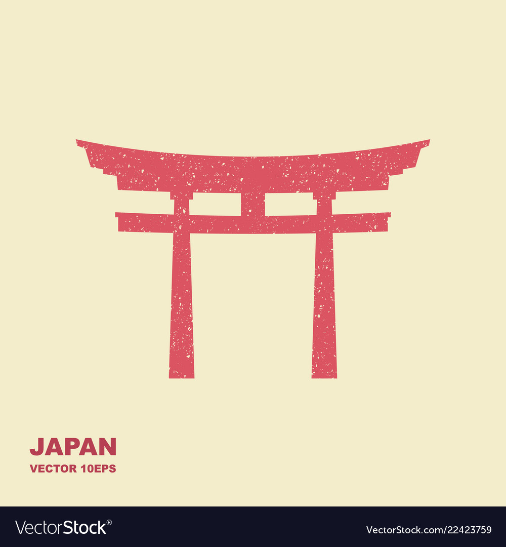Traditional japanese torii gate flat icon