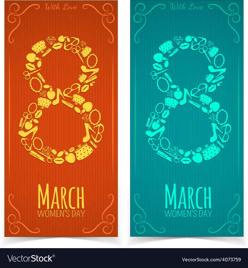 Women Day banners vector image