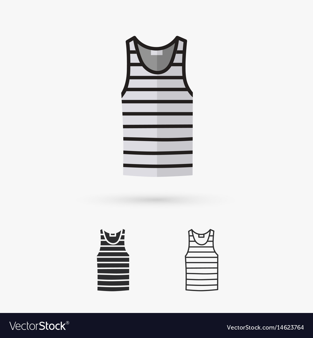 Blank singlet template - front and back