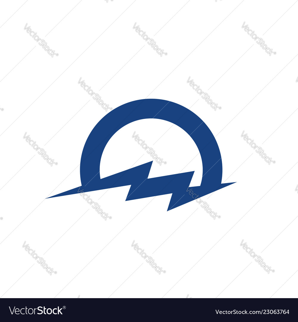 Cloud and lightning logo icon template design