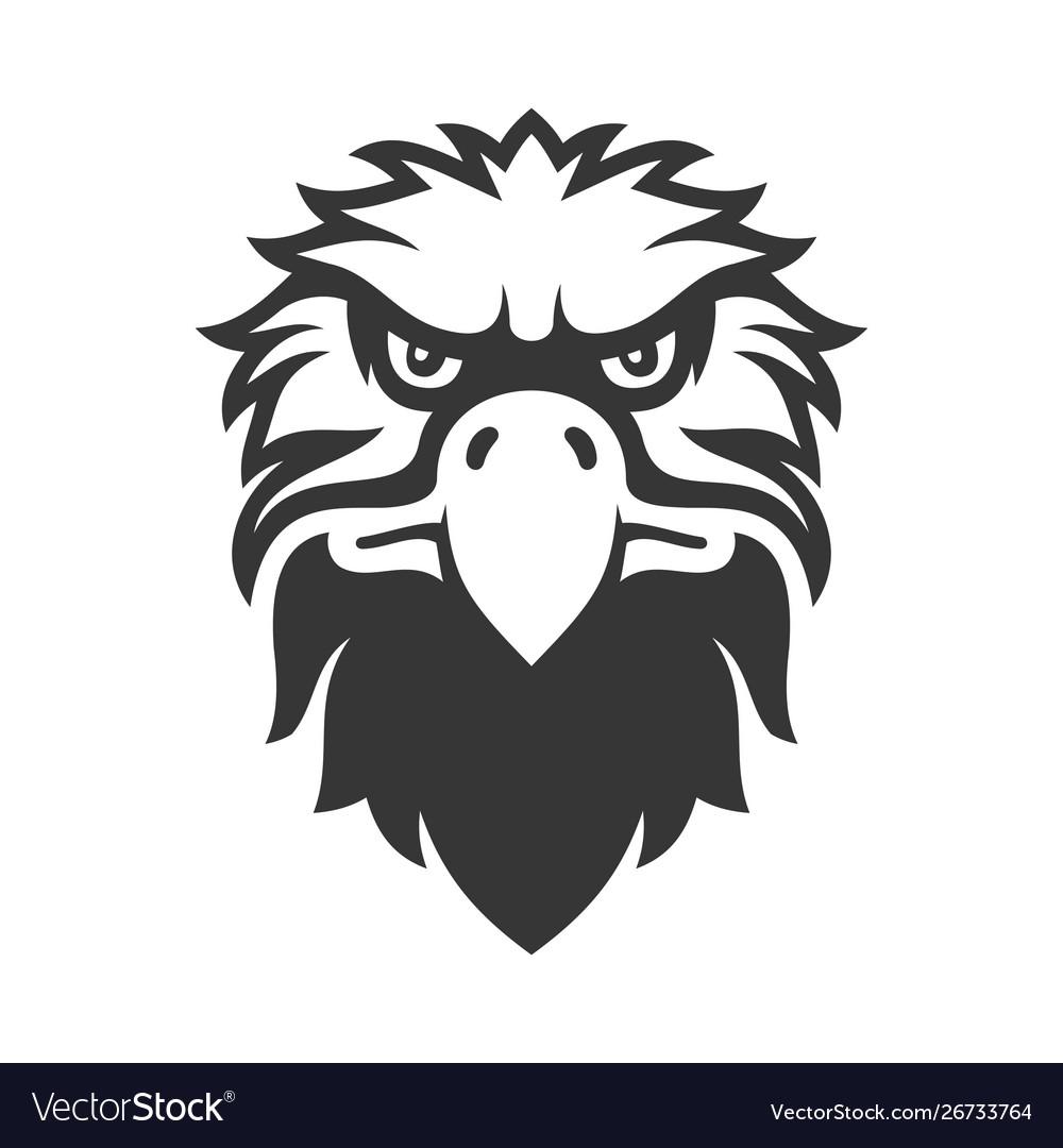Eagle face icon bird logo on white background
