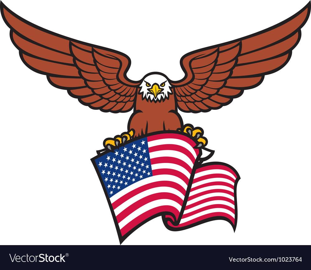 Eagle with USA flag vector image