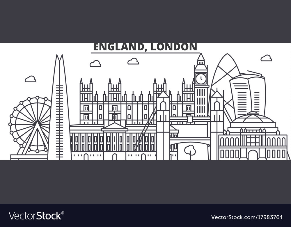 England london architecture line skyline